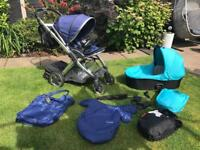 Oyster 2 Pushchair and Carrycot with Accessories
