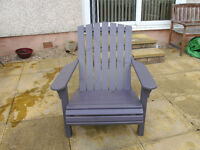 HAND BUILT ADIRONDAK GARDEN LAWN CHAIR & FOOTSTOOL