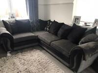 DFS corner sofa and snuggle chair