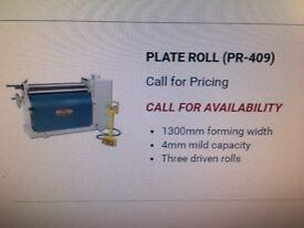 Baileigh PR-409 Plate rolls and BB-9612 Box & Pan Folder