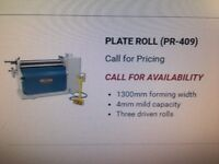 Baileigh PR-409 Plate rolls and BB-9612 Box & Pan Folder