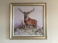 DORMA: LARGE MAJESTIC FRAMED STAG CANVAS PRINT