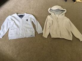 18-24 month cardigan and hoodys