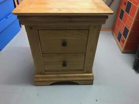 Small oak bedside table