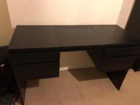 Malm brown black dressing table