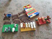 LEGO DUPLO FARMYARD ANIMALS FENCES and BUILDING BASES