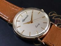 Vintage solid 9k 9ct 375 gold Ingersoll mens watch (Christmas present)