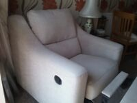 CO-OP 2 SEATER OATMEAL SETTEE & MANUAL RECLINER CHAIR GOOD CLEAN CONDITION NON SMOKERS NO PETS
