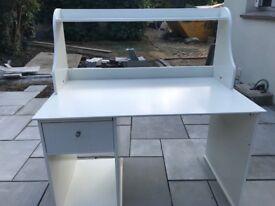 White IKEA office desk for sale