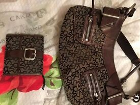 Matching DKNY bag and purse bought from harrods used once