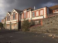 to let school building with lot of land south wales