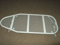 table top white mesh ironing board