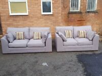Very nice Brand New light grey sofa suite. 3 +2 seaters. Brand new. delivery available