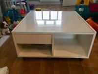 White glass Top coffee table from Ikea