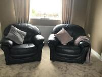Armchair and matching 3 seater sofa