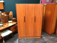 Fresco 3 Door Wardrobe by G Plan. Retro Vintage Mid Century