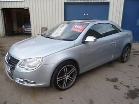 Volkswagen EOS 2.0 TDI Convertible,6 speed manual,FSH,2 keys,full heated leather interior,only 56k