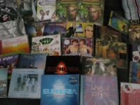 collection of music albums and a few games