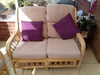 3 piece cane furniture suite - suitable for conservatory