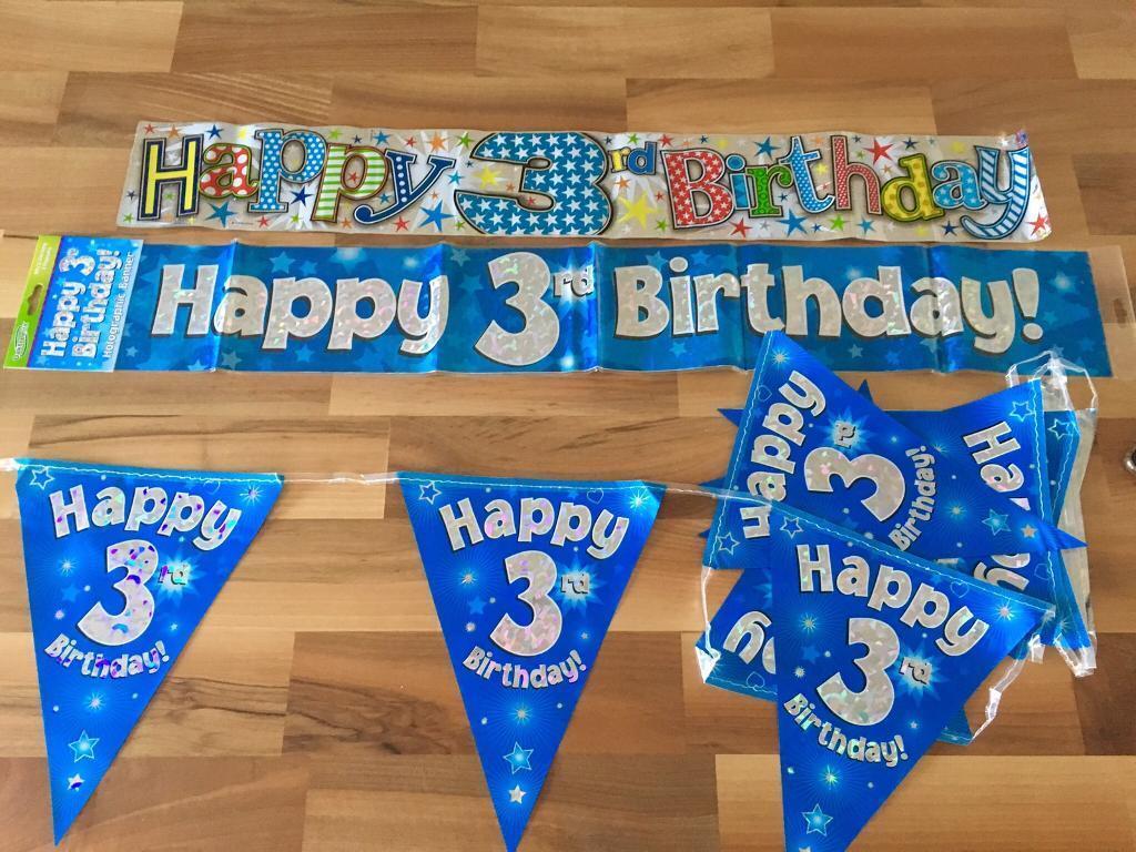 Boys 3rd Birthday Decoration Bundle