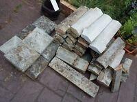 Garden building materials slabs bricks ect