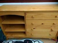 Free, up cycle project, pine drawers and shelves