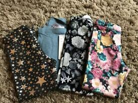 X4 pairs girls leggings 5-6