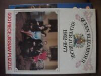 Two Queens Jubilee Puzzles, one has picture on either side.Both 500 piece