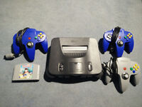 N64 games console, 3 controllers, Diddy Kong Racing + all cables and leads Nintendo 64