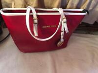 Michael kors ladies shoulder bag used one time red £15