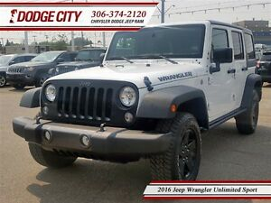 2016 Jeep WRANGLER UNLIMITED Sport | 4x4 | PST PAID