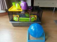 Hamster cage with everything in excellent condition