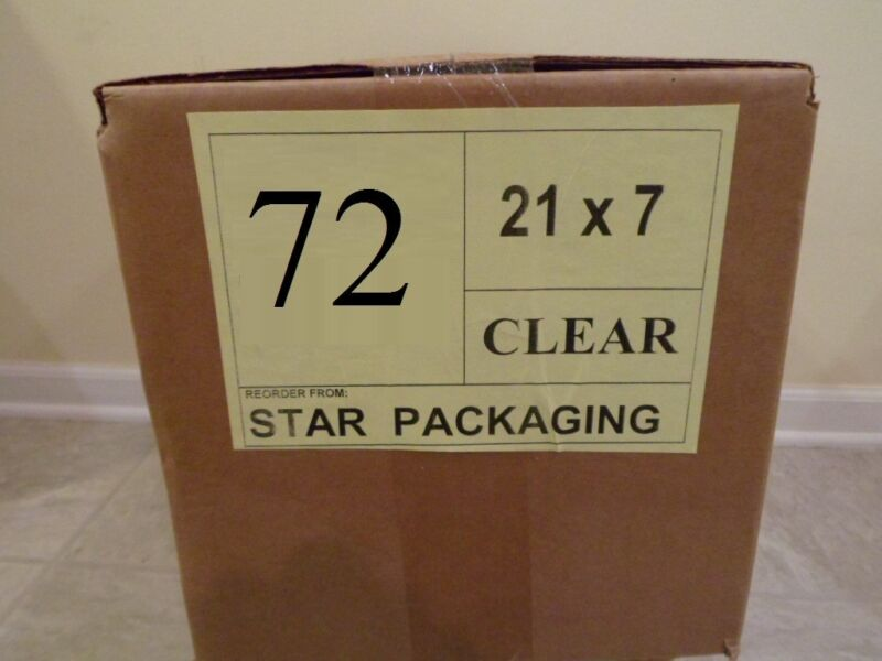 """72"""" CLEAR Plastic Dry Cleaning Poly Bag Garment Bags 300 BAGS - MADE IN USA"""