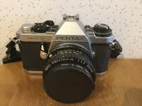 Pentax, ME-F 35mm, SLR Camera and Lens