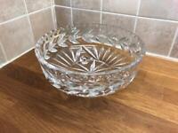 Large Crystal Glass Fruit bowl