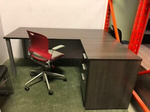 "L-Shape Desk with Box/Box/File Pedestal - $600.00 - Showroom Model - 72"" x 60"""