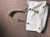 Michael Kors Jet Set East West Tote handbag - cream white and gold