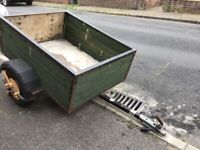 4ft x 3ft wooden trailer, ideal for tip run or camping.