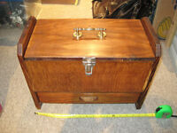 Old wooden tool / accessories box