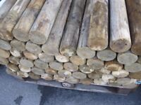 Round Wooden Posts Roughly 1200mm in Length. ***Bargain At Only £3 Each***