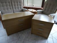 Chest Of Draws & Bedside Cabinet