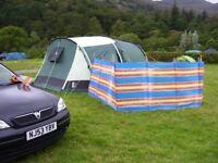 5 berth Gelert Lakesbury tent and associated camping gear