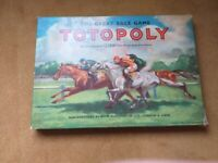 Vintage 1949 Totopoly Horse Racing Board Game by John Waddington