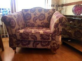 VINTAGE STYLE ASHLEY MANOR Tub/Single Seater Sofa Chair - Hand Made