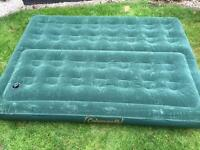 Coleman double air bed with pump