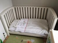 Mamas & Papas Cot Bed / Day Bed / Toddler bed (all in one) solid wood GOOD CONDITION
