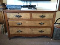 Solid antique sideboard / draws