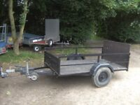 TRAILER 6X4 APPROX FULLY BRAKED GOODS / TRANSPORTER WITH RAMPTAIL...