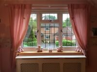 Lovely Mamas and Papas pink curtains for Baby girls bedroom or Nursery