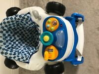 Immaculate condition racing car baby walker /rocker £30